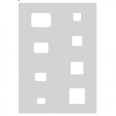 Gabarit de découpe Carrés et Rectangles 21 x 15 cm