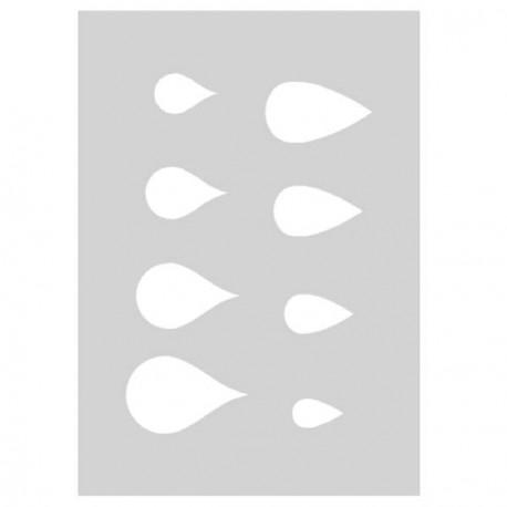 Gabarit de découpe Gouttes d'eau 21 x 15 cm