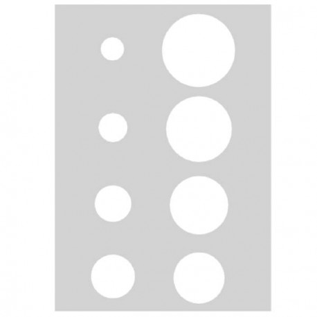 Gabarit de découpe Ronds 21 x 15 cm