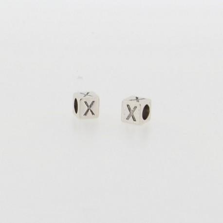 Métal Lettre X style Pandora - à l'unité