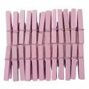 Mini Pinces àlinge rose 3 cm, 24 pièces
