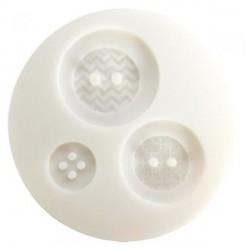 Mini moule silicone Boutons géométriques