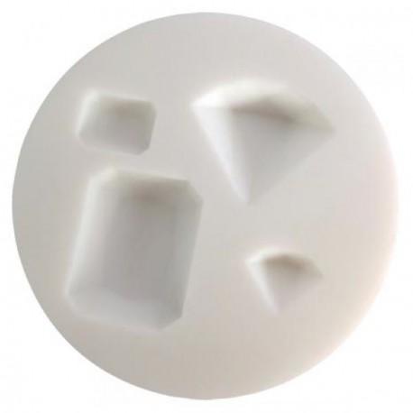 Mini moule silicone Pierres précieuses