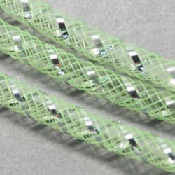 Résille tubulaire Vert clair argenté, 8 mm ø - au mètre