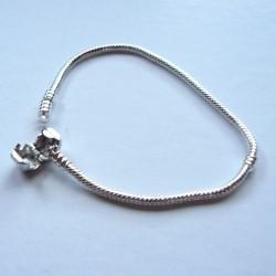 Bracelet style Pandora Fermoir clip 19 cm argenté clair
