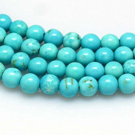 Perle naturelle Turquoise, ronde 8 mm