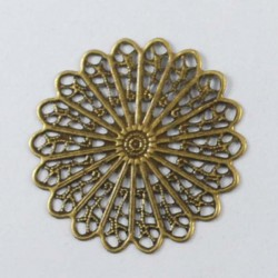 Pendentif breloque Médaillon rosace, bronze antique