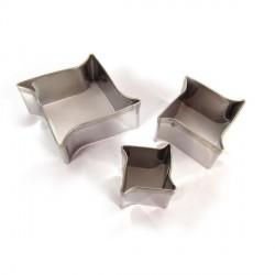 3 emporte-pièces Vagues métalliques pour fimo