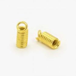 Embouts ressorts x 10, 1,8 mm ø intérieur, doré