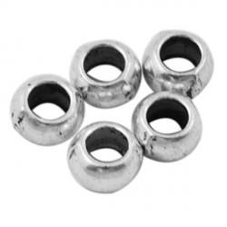 Perle de métal ronde - 5 mm