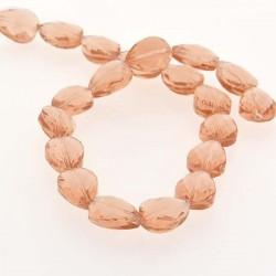 Perle de verre Cristal Pampille 18 x 13 mm, saumon