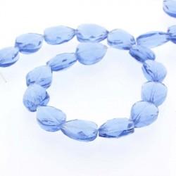 Perle de verre Cristal Pampille 18 x 13 mm, bleue pale
