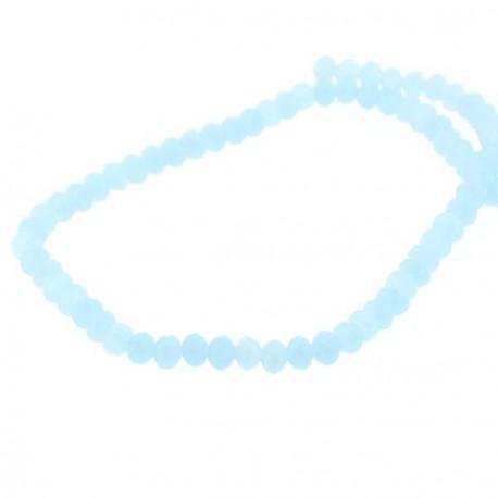 Perle de verre Cristal ronde opaque 6mm, bleue turquoise