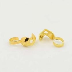 Cache noeud 3 mm, doré - 10 pièces