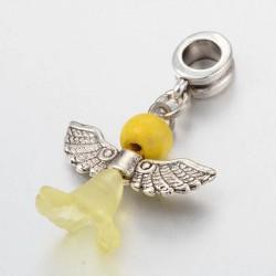 Perle Ange jaune style Pandora - à l'unité