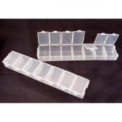 Lot de 2 Boîtes rectangulaires plastiques 7 compartiments