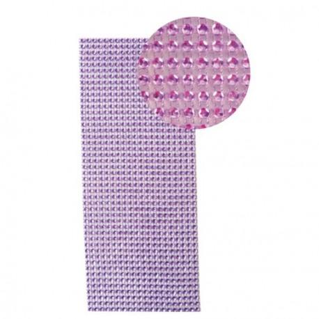 Strass en bande adhésive - 10 x 25,5 cm - Violet