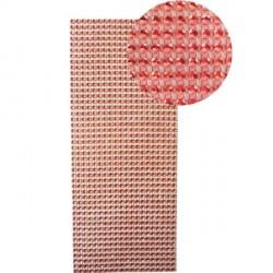 Strass en bande adhésive - 10 x 25,5 cm - Rouge