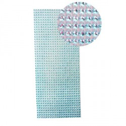Strass en bande adhésive - 10 x 25,5 cm - Bleu turquoise