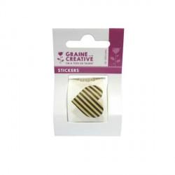 Rouleau Stickers Etiquettes kraft - 80 pièces