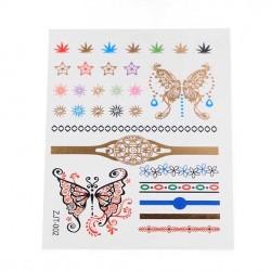 Tatouage temporaire Mains Papillons