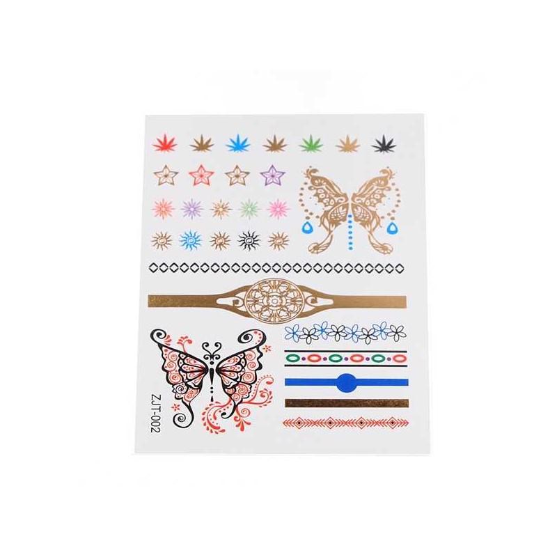 tatouage temporaire mains papillons. Black Bedroom Furniture Sets. Home Design Ideas
