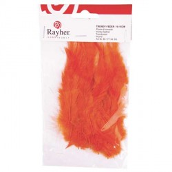Plumes à la mode - orange - 10 à 15 cm sachet