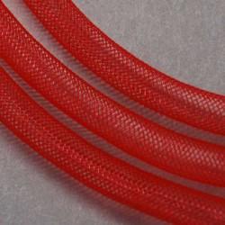 Résille tubulaire fine Rouge, 4 mm ø - au mètre