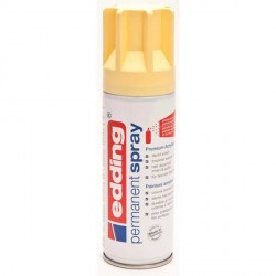 Edding Permanent Spray peinture Jaune pastel, mat - 200 ml
