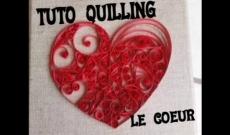 Réalisation d'un Coeur en Quilling - Tuto